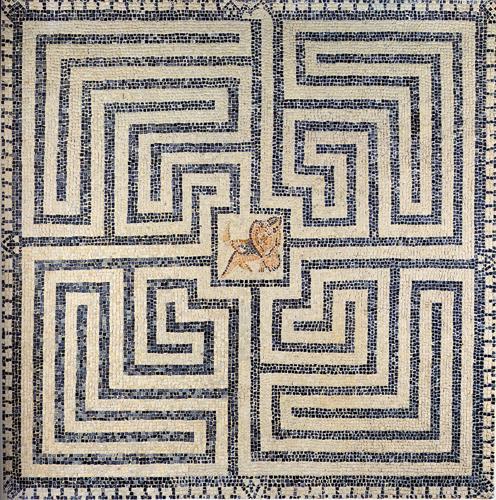 Bedriacum - Mosaico del labirinto