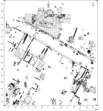 Bedriacum - Pianta scavo sud